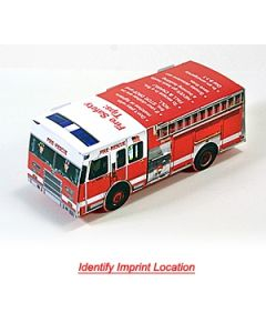 Foldable Die-Cut Fire Truck (Full Color Digital)