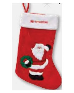 Santa w/ Wreath Christmas Stocking (Blank)/ Product Packaging Option