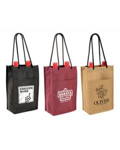 Non Woven Double Wine Bottle Bag (Blank)