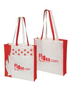 """Non-Woven Canada Tote Bag (16""""x15.5""""x3"""") (Printed)"""