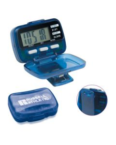 Multi Function Pedometer w/ Hinged Cover (4 Color Process)
