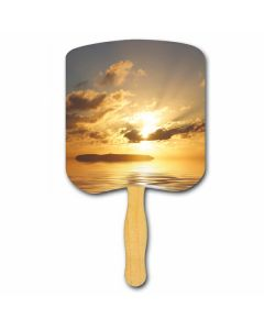 Religious Hand Fan/ Sunrise