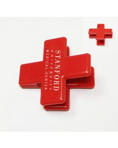 Red Cross Shape Magnetic Memo Clip Holder