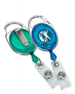 Carabiner Style Retractable Badge Holder w/ Sport Clip