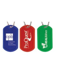 "Plastic Dog Tag w/ 23 1/2"" Chain (Spot Color)"