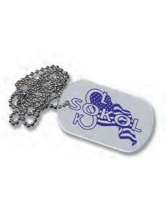 "Silver Dog Tag w/ 4"" Chain"