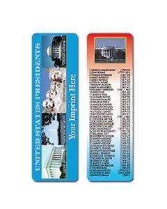 United States Presidents Stock Full Color Digital Printed Bookmark