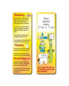 Dental Hygiene Stock Full Color Digital Printed Bookmark