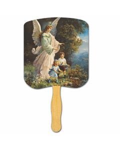 Religious Hand Fan/ Guardian Angel