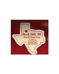 "Texas 0.02"" Thick Vinyl Die Cut Magnet"