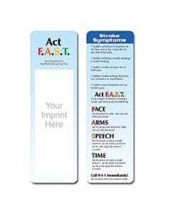 Stroke Symptoms Stock Full Color Digital Printed Bookmark