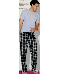 District Young Men Flannel Plaid Pants