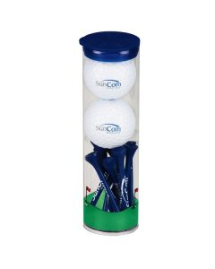 2 Ball Tall Tube with Titleist DT Solo