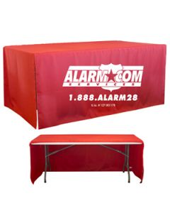 8' 3-Sided Open Corner Table Cover (Blank)
