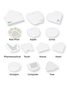 "Die Cut Apple Adhesive Notepad w/ 25 Sheets (4""x4"")"