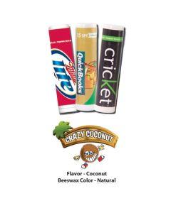 Crazy Coconut Premium Lip Balm in White Tube