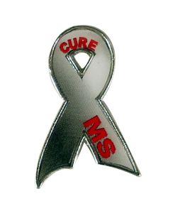 Cure MS Ribbon Lapel Pin