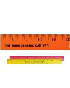 "12"" Fluorescent Wood Ruler (Spot Color)"