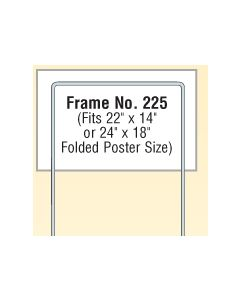 "Steel Wire Poster Frames (Fits 22""x14"" or 24""x18"" Folded)"