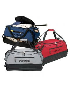 Zippered Travel Duffel Bag w/ Bottom Storage