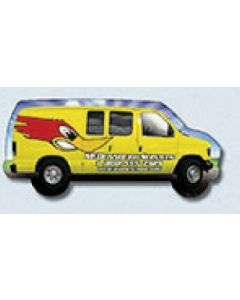 """TuffMag Outdoor Safe Right Facing Van Shaped Magnet (4.125""""x1.875"""")"""