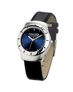 Watch Creations Men's 2 Tone Silver Case Watch w/ Blue Sunray Dial