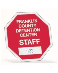 "Octagon Clear Inside Parking Permit (2 3/4""x2 3/4"")"