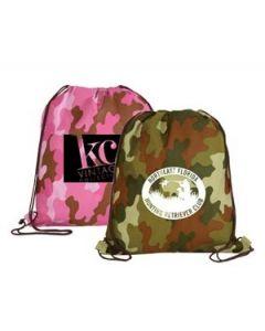 Non Woven Camo Drawstring Backpack (Blank)