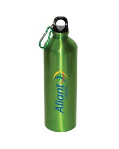 25 Oz. Aluminum Water Bottle w/ Carabiner (Printed)