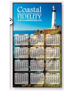 "HD Resolution Vertical Rectangle Calendar- Art Code Q- Mountain Lake(4""x7"")"