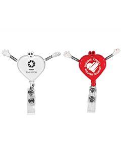 Googly Eyed Heart Badge Holder (Spot Printed)