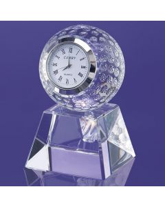 Painesville Golf Ball Embedded Clock on Pedestal Award