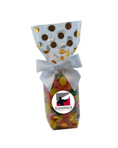 Gold Dots Mug Stuffer Gift Bag with Jelly Beans