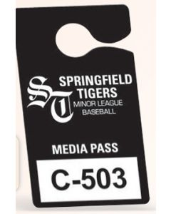 "Recyclable Plastic Hanging Parking Permit (3 1/2""x6"")"