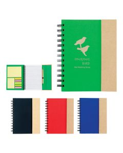 Spiral Notebook w/ Sticky Notes & Flags