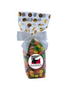 Gold Dots Mug Stuffer Gift Bag with Skittles