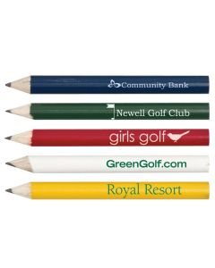 Round Wooden Golf Pencil without Eraser