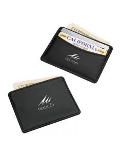 Black Vinyl Credit Card Holder