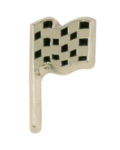 Single Checkered Flag Lapel Pin