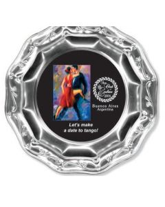 "6 7/8"" Round Full Color Metal Platter"