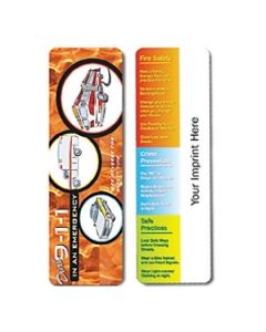 Emergency Safety Tips Stock Full Color Digital Printed Bookmark