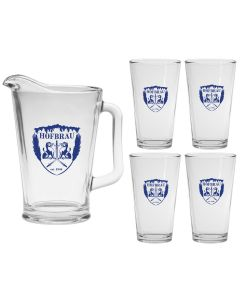 Glass Pitcher & Pint Set