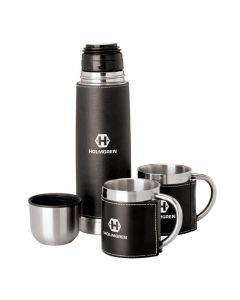 Steel Flask & Cups Travel Set