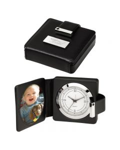 Travel Alarm Clock w/ Photo Frame
