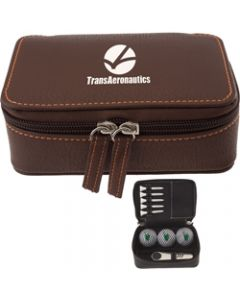 Zippered Golf Gift Kit w/ Titleist DT Solo