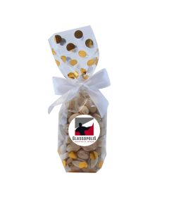 Gold Dots Mug Stuffer Gift Bag with Pistachios