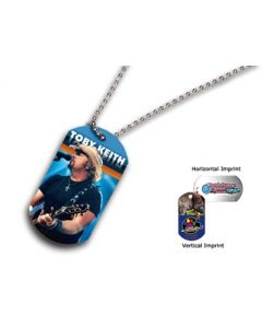 "Metal Dog Tag w/ 23 1/2"" Chain (Full Color Digital)"