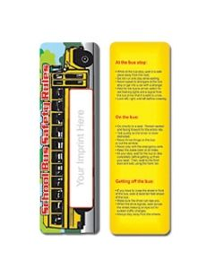 School Bus Safety Stock Full Color Digital Printed Bookmark