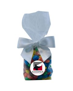 Clear Mug Stuffer Gift Bag with M&M's