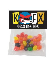 Plastic Candy Bag with Header Card & Corporate Jelly Beans